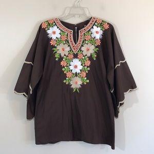 Vintage [international ideas] Embroidered Tunic
